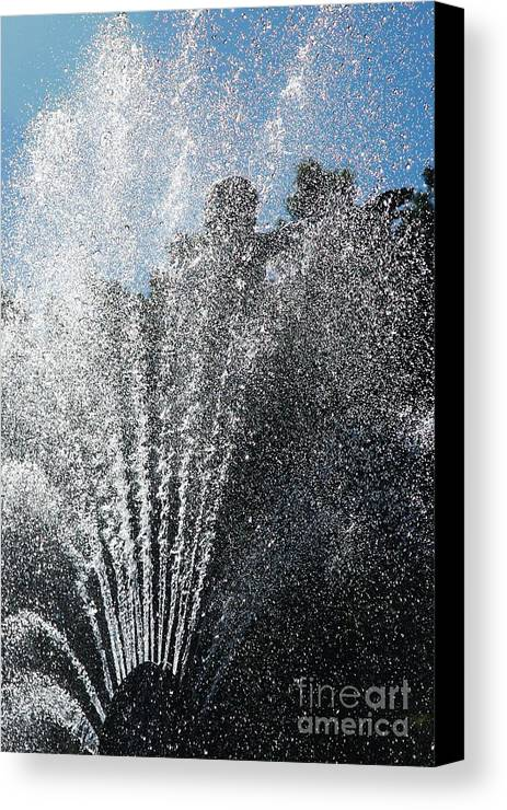 Summer Canvas Print featuring the photograph Splash Into The Sky by Hideaki Sakurai