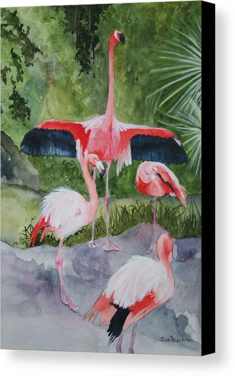Wings Canvas Print featuring the painting Spreading My Wings by Jean Blackmer