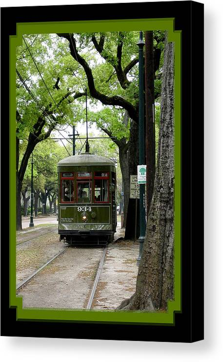 New Orleans Canvas Print featuring the photograph St. Charles Street Car by Linda Kish