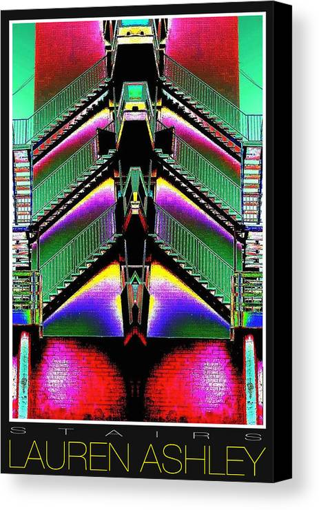 Poster Art Canvas Print featuring the photograph Stairs by Lauren Hatfield