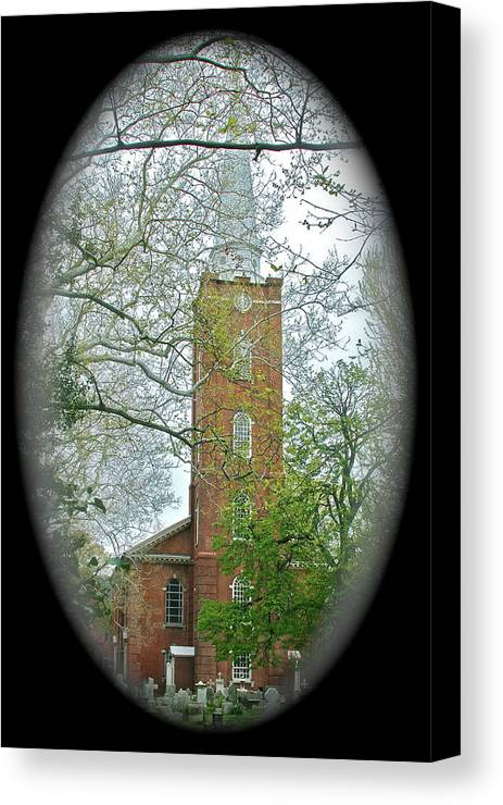 Church Canvas Print featuring the photograph Steeple by Rick Monyahan