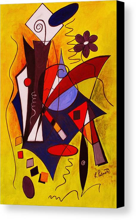 Abstract Canvas Print featuring the painting Step Lively Now by Ruth Palmer