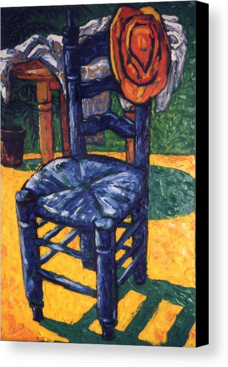 Still Life Canvas Print featuring the painting Straw Hat by Paul Herman