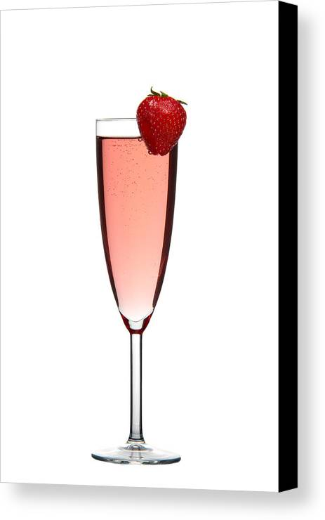 Alcohol Canvas Print featuring the photograph Strawberry Champagne by Gert Lavsen