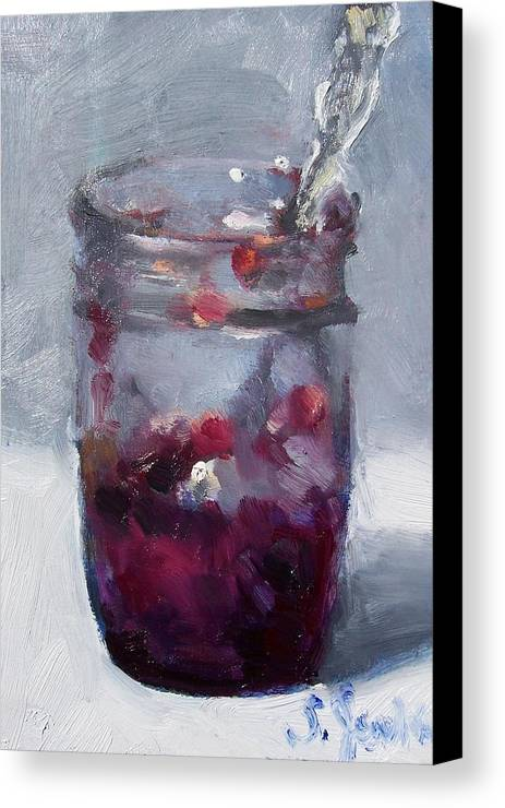 Paintings Canvas Print featuring the painting Strawberry Jam by Susan Jenkins