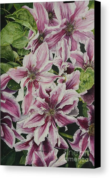 Flowers Canvas Print featuring the painting Summertime Finery by Helen Shideler