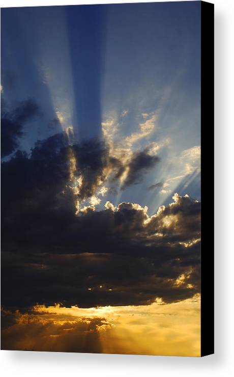 Sunset Canvas Print featuring the photograph Sun Rays by Jill Reger