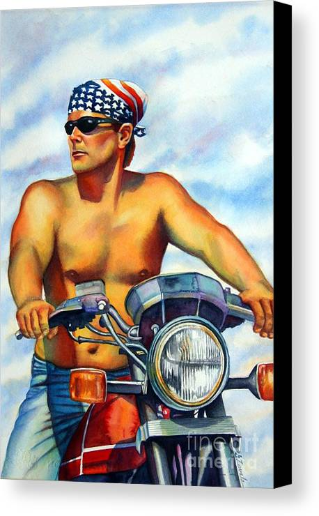 Portrait Canvas Print featuring the painting Sunday Ride by Gail Zavala