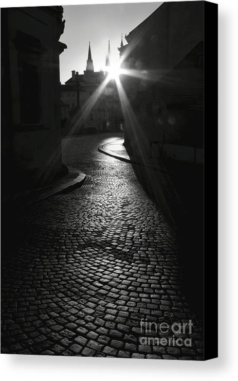 Prague Canvas Print featuring the photograph Sunrise At Prague by Hideaki Sakurai