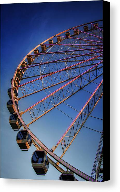 The Great Smoky Mountain Wheel Canvas Print featuring the photograph Sunrise At The Whee by Greg Mimbs