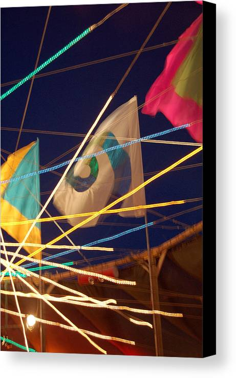 Flags Canvas Print featuring the photograph Surreality by Heather S Huston