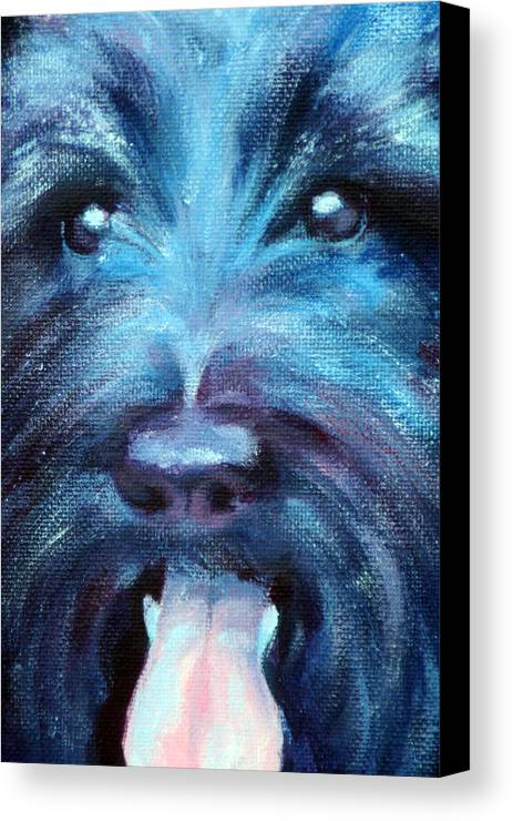 Dog Canvas Print featuring the painting Suzie by Fiona Jack