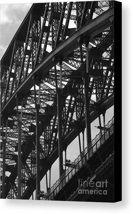 Bridge Canvas Print featuring the photograph Sydney Harbour Bridge by Hideaki Sakurai