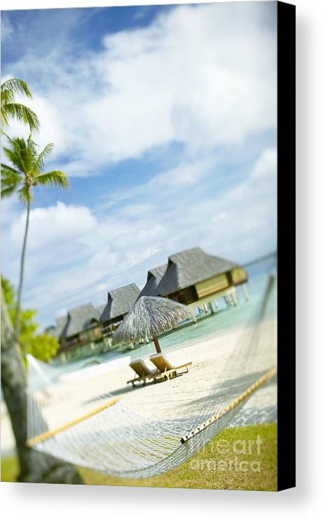 10-pfs0158 Canvas Print featuring the photograph Tahiti, Bora Bora by Kyle Rothenborg - Printscapes