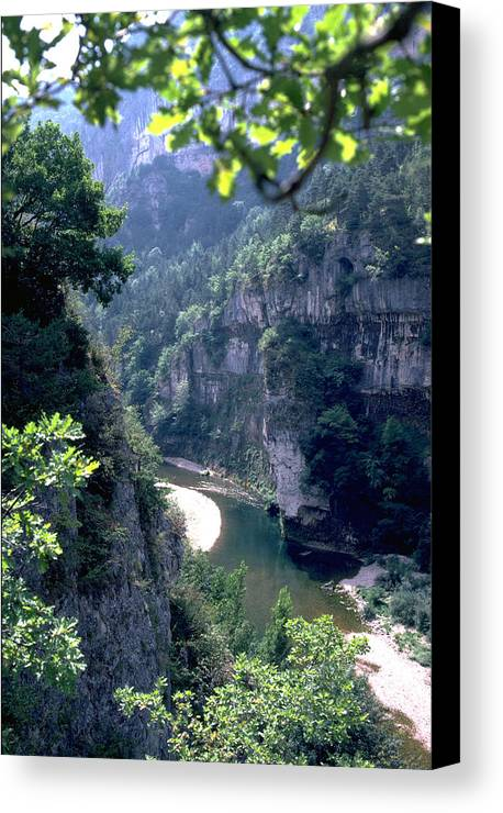 France Canvas Print featuring the photograph Tarn by Flavia Westerwelle
