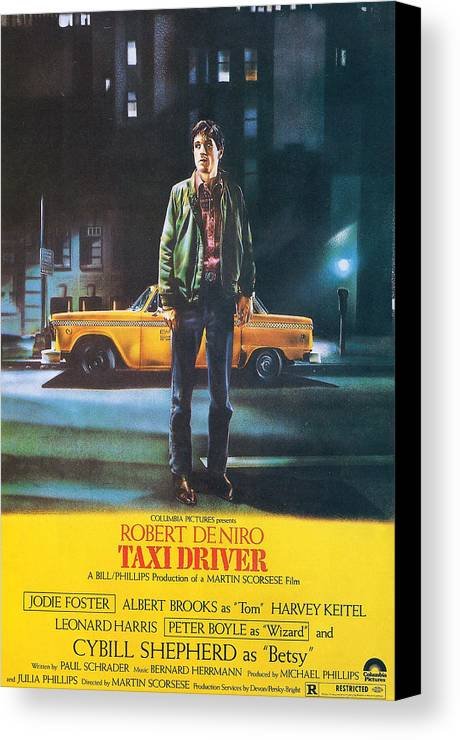 Taxi Driver Canvas Print featuring the photograph Taxi Driver - Robert De Niro by Georgia Fowler