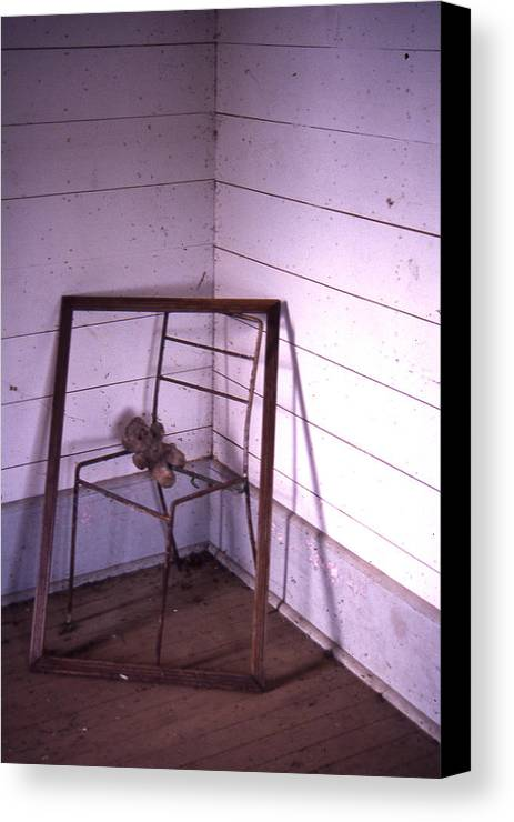 Canvas Print featuring the photograph Teddy-bear Chair Corner by Curtis J Neeley Jr