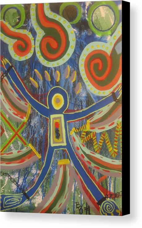 Abstract Painting Canvas Print featuring the painting Temptation by Bryan Zingmark