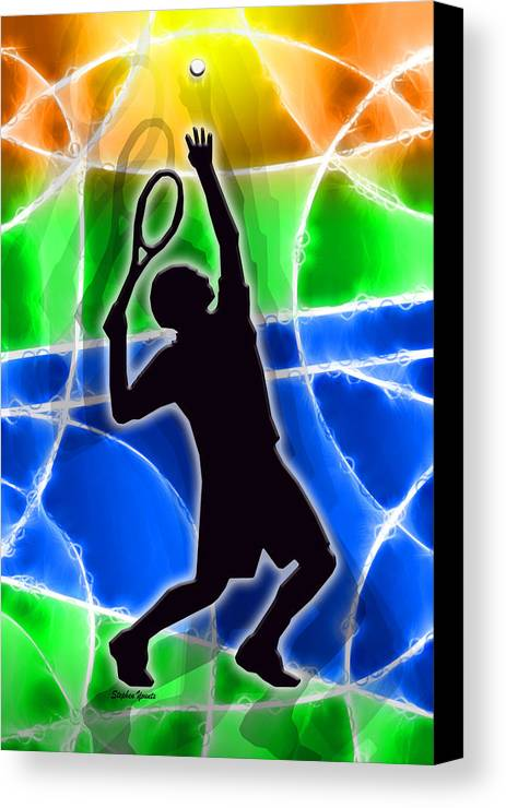 Tennis Canvas Print featuring the digital art Tennis by Stephen Younts