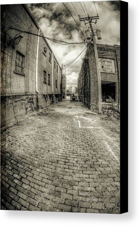 Alley Canvas Print featuring the photograph The Alley by Steve Tredway