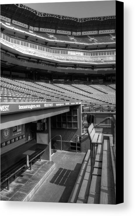 America Canvas Print featuring the photograph The Ballpark In Arlington by Ricky Barnard