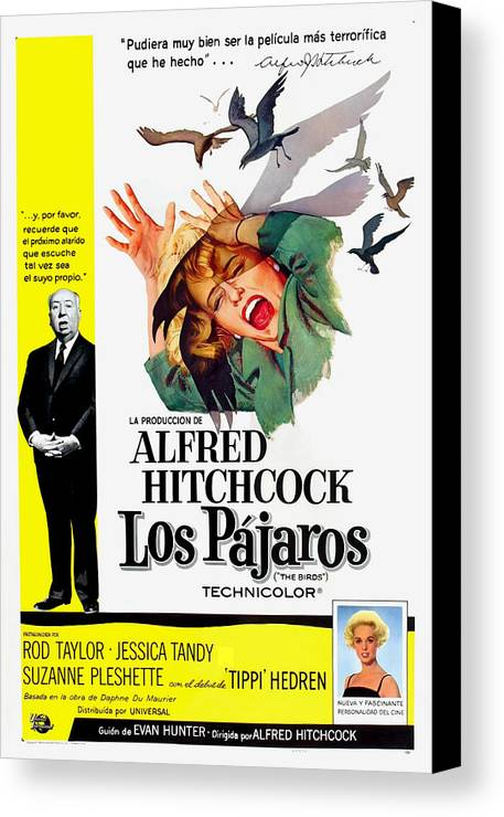 1960s Movies Canvas Print featuring the photograph The Birds, Aka Los Pajaros, Alfred by Everett