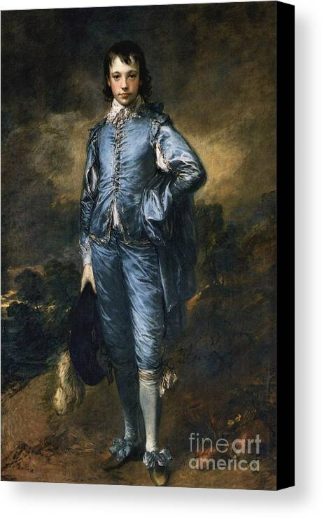 The Blue Boy Gainsborough Canvas Print featuring the painting The Blue Boy by MotionAge Designs
