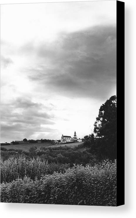 Azores Canvas Print featuring the photograph The Church At Salga Azores Portugal by Henry Krauzyk