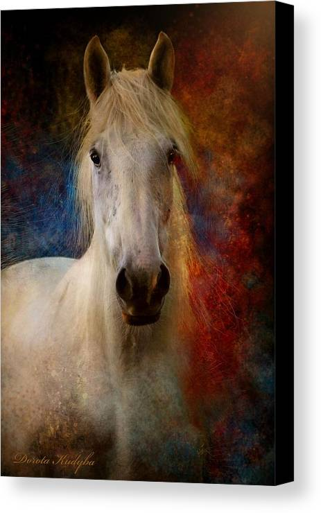 E Canvas Print featuring the photograph The Colours Of Love. by Dorota Kudyba