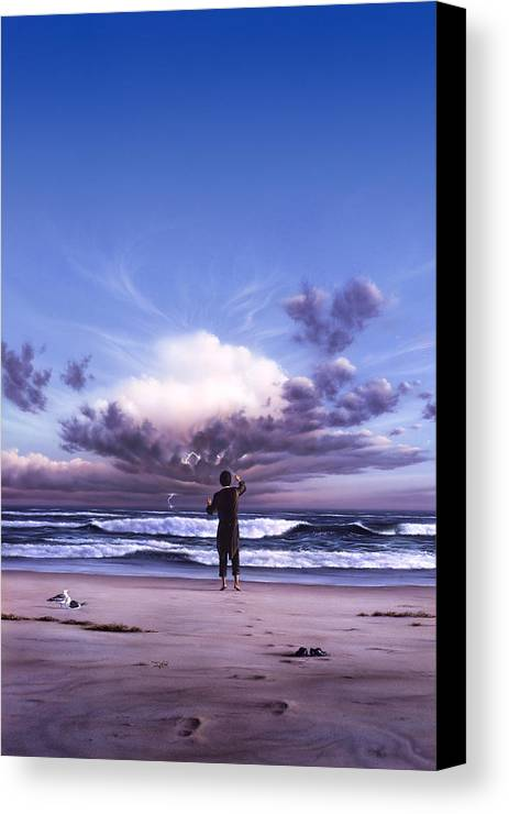 Music Canvas Print featuring the painting The Conductor by Jerry LoFaro
