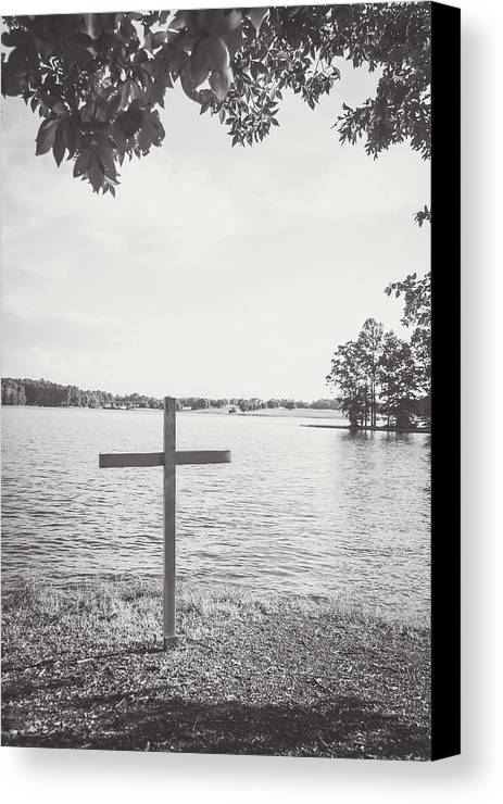 Cross Canvas Print featuring the photograph The Cross On The Water by Meg Porter