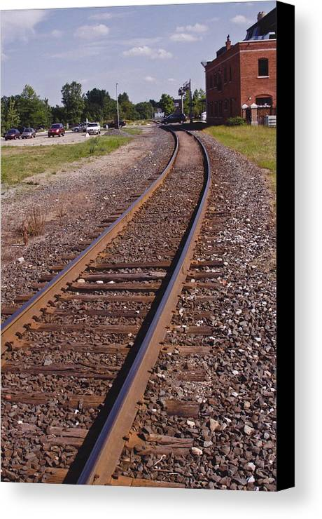 Train Canvas Print featuring the photograph The Edge by Xn Tyler