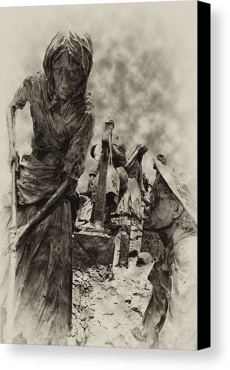 Philadelphia Canvas Print featuring the photograph The Irish Famine by Bill Cannon