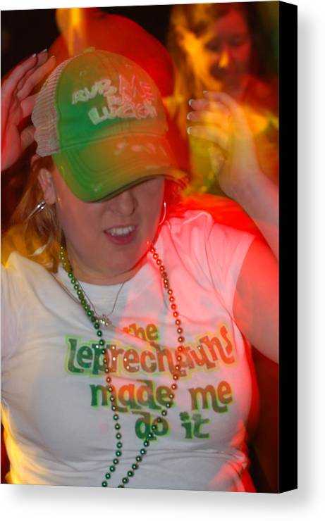 St. Patrick Canvas Print featuring the photograph The Leprechauns Made Her Do It by Steven Crown