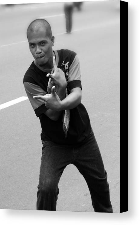 Jez C Self Canvas Print featuring the photograph The Little Known Filipino Clap by Jez C Self