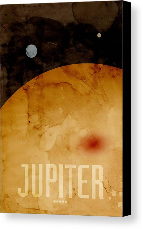 Jupiter Canvas Print featuring the digital art The Planet Jupiter by Michael Tompsett