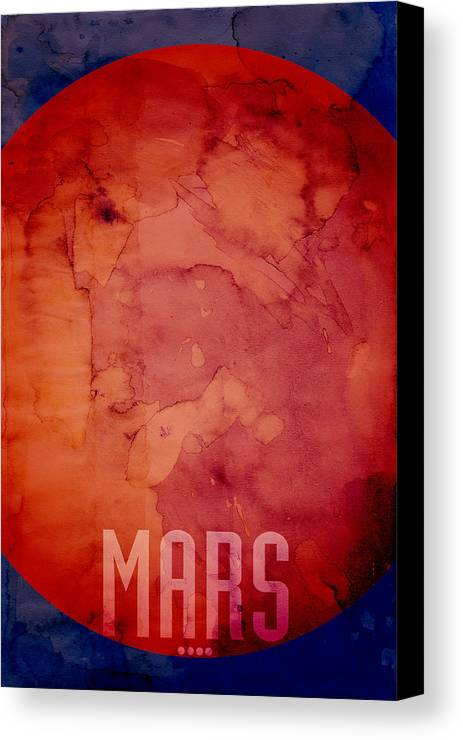 Mars Canvas Print featuring the digital art The Planet Mars by Michael Tompsett