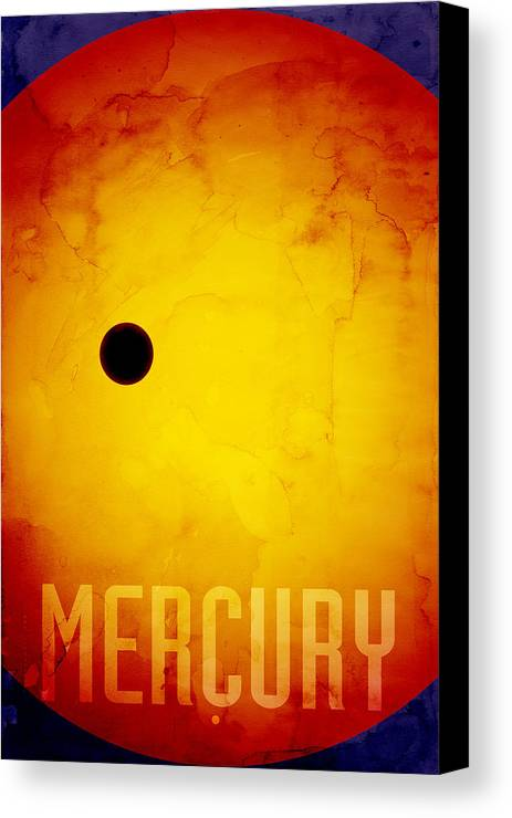 Mercury Canvas Print featuring the digital art The Planet Mercury by Michael Tompsett
