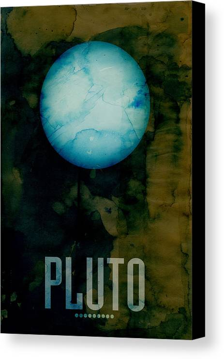 Pluto Canvas Print featuring the digital art The Planet Pluto by Michael Tompsett