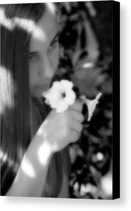 Girl Canvas Print featuring the photograph The Scent by Steve Parrott
