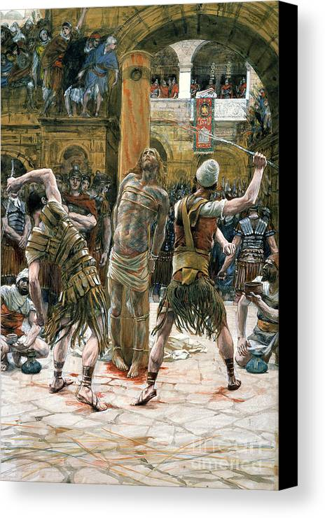 Whips Canvas Print featuring the painting The Scourging by Tissot