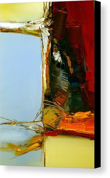 Abstract Canvas Print featuring the painting The Space Between Us All by Stefan Fiedorowicz