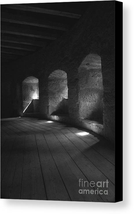 Town Wall Canvas Print featuring the photograph The Town Wall In Rothenburg Germany by Hideaki Sakurai