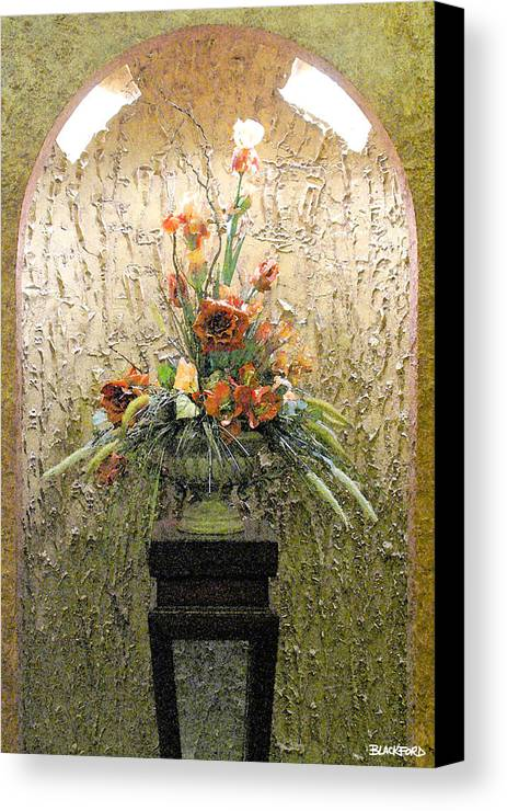 Flowers Canvas Print featuring the digital art Theater Flower Arrangement by Al Blackford