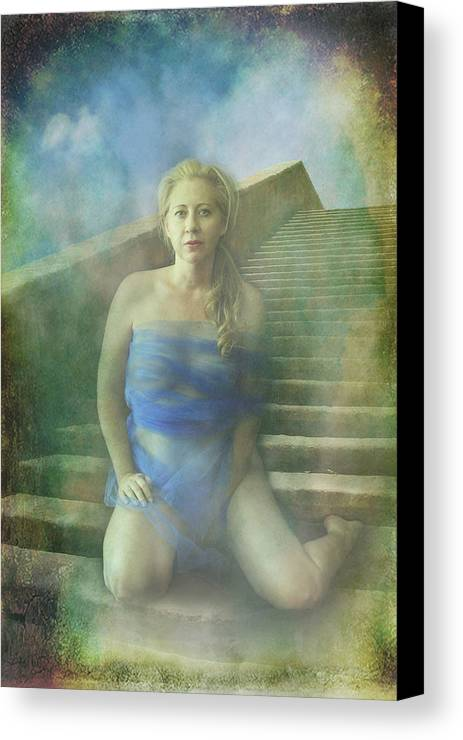 Woman Canvas Print featuring the photograph This Is My Heart by Laurie Search