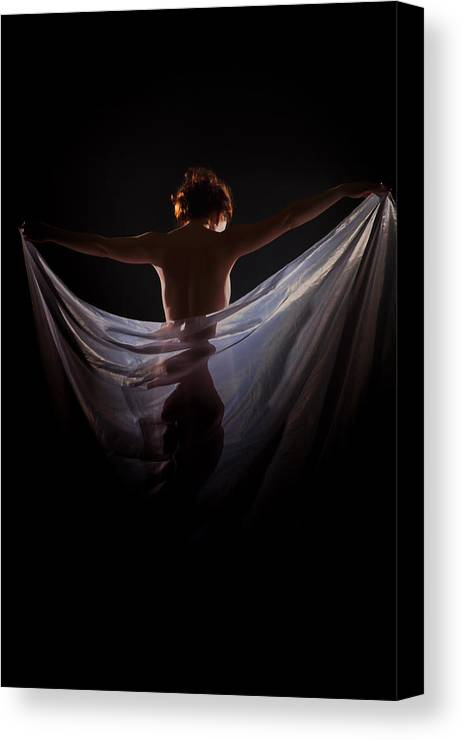 Nude Canvas Print featuring the photograph Tight Hide by Vitaly Vachrushev
