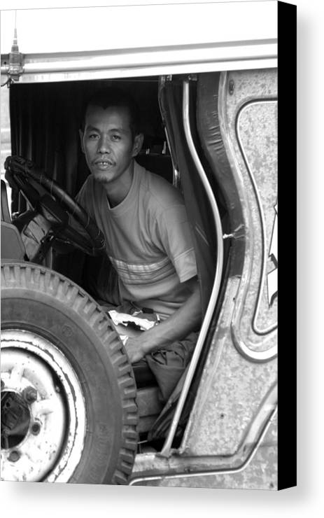 Jez C Self Canvas Print featuring the photograph Tired Of Driving But I Have To Carry On by Jez C Self