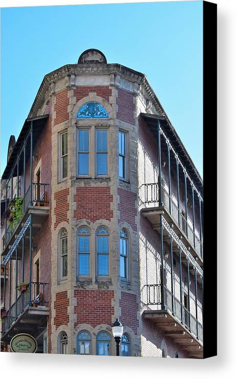 Buildings Canvas Print featuring the photograph Todays Art 1258 by Lawrence Hess