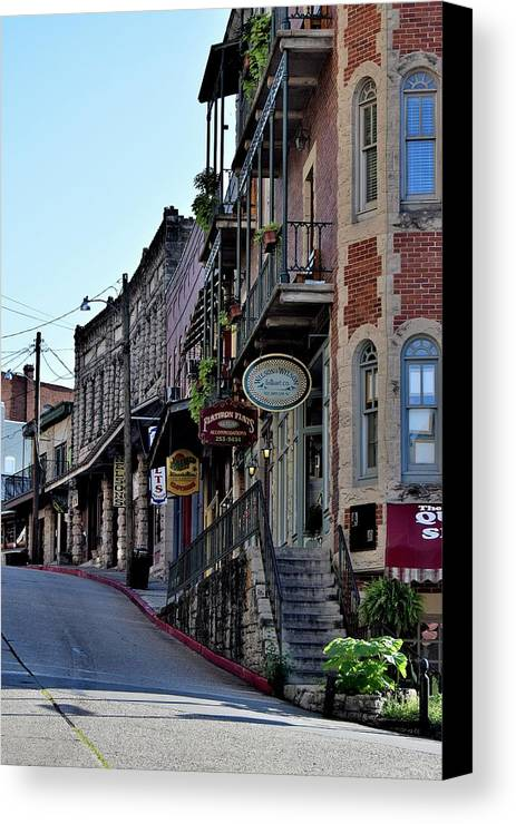 Buildings Canvas Print featuring the photograph Todays Art 1259 by Lawrence Hess