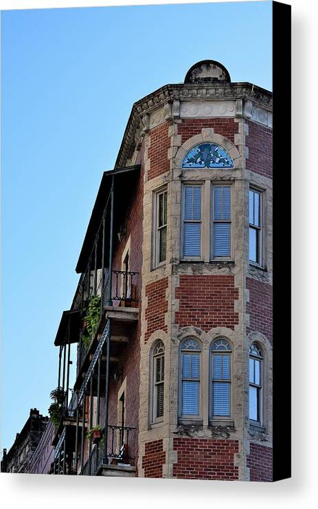 Buildings Canvas Print featuring the photograph Todays Art 1260 by Lawrence Hess
